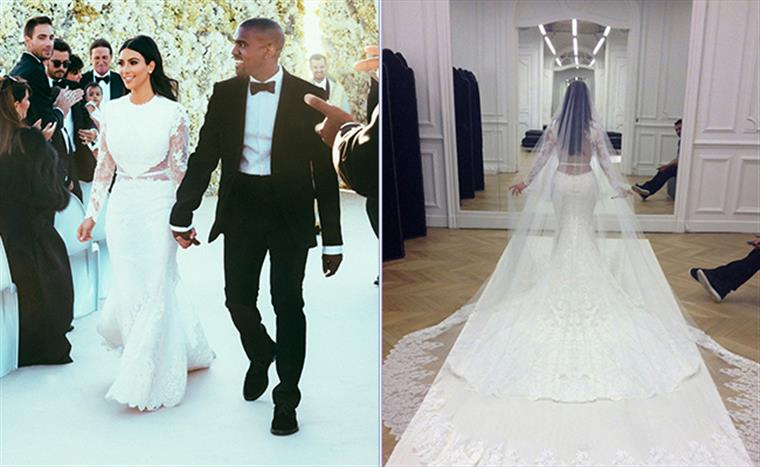 kim kardashian Vestido de casamento