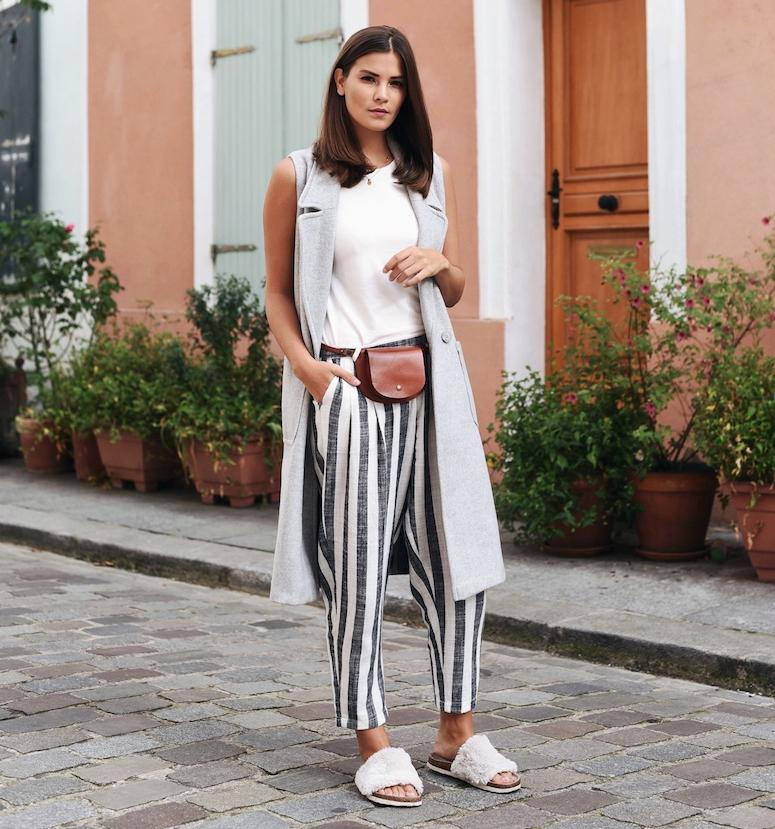 look minimalista com pochete