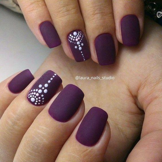 tendência nail art inverno decoração unha bordô