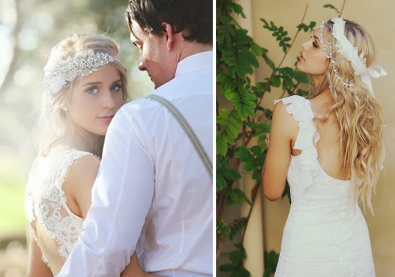 tipos de véus para casamento headbands para noivas