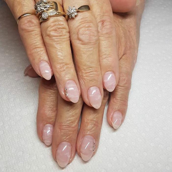 unhas quartzo rosa nail art