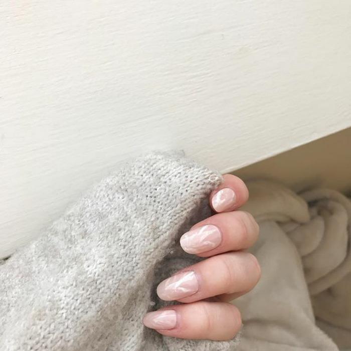 unhas quartzo rosa tendência em nail art
