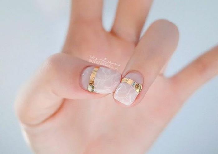 unhas quartzo rosa