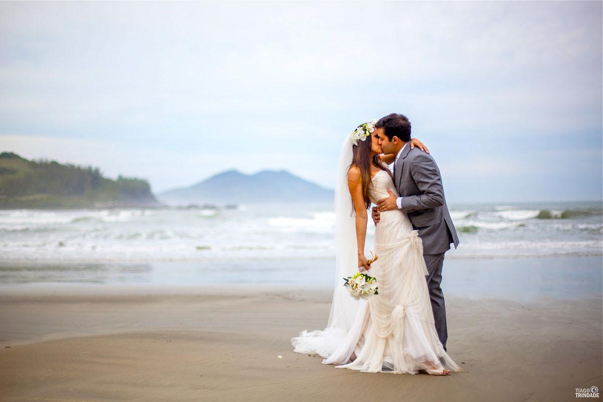véu para casamento na praia