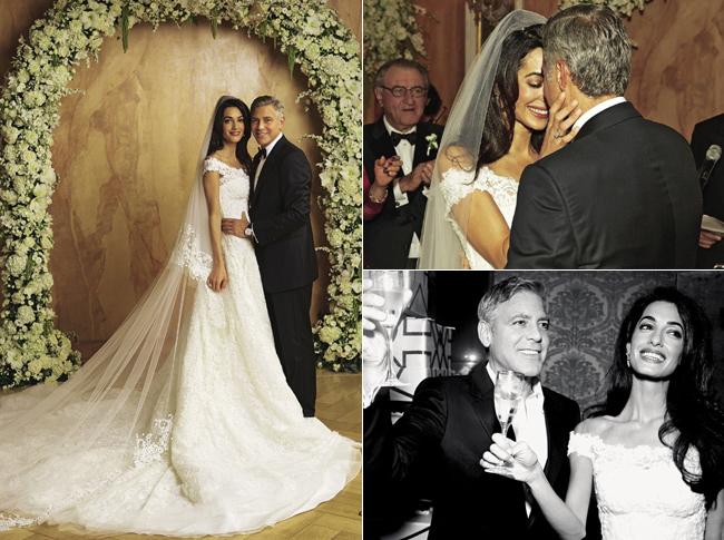 vestido de casamento Amal Clooney
