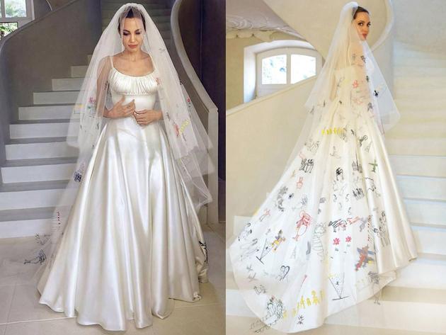 vestido de casamento angelina jolie