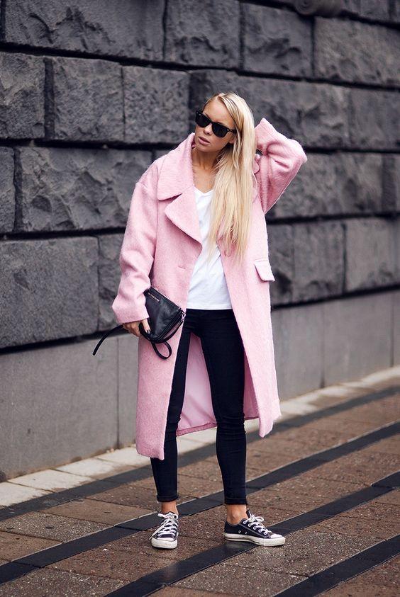 Millennial Pink rosa tendência geração Y casaco de lã