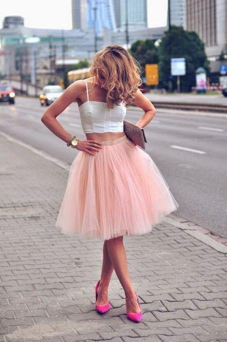 Millennial Pink rosa tendência geração Y saia de tule