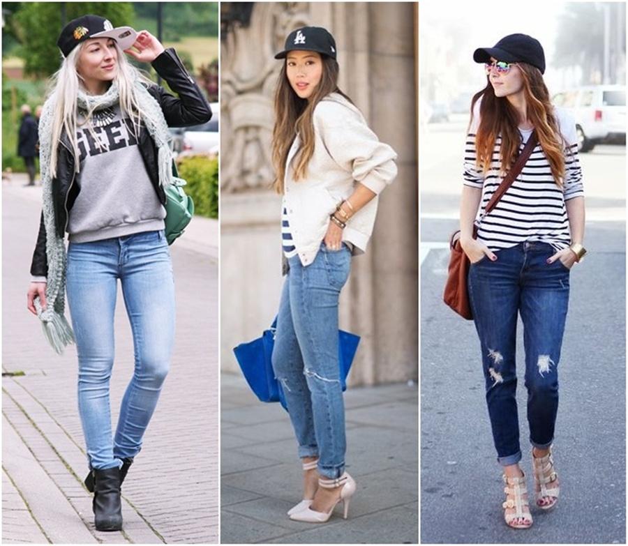como usar boné feminino com calça