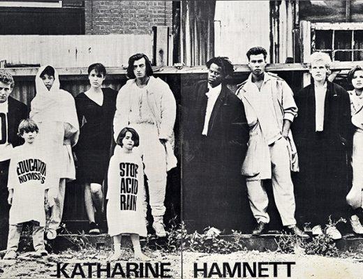 história das camisetas de protestos KATHARINE HAMNETT