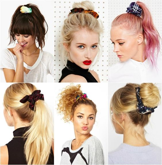 scrunchies nos cabelos