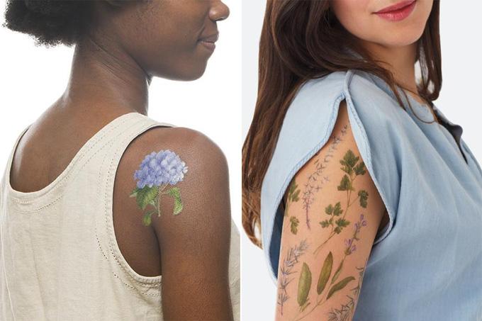 tatuagem temporária com perfume