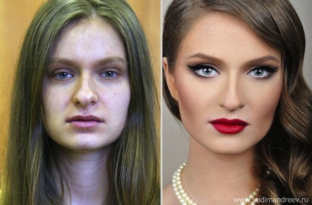 antes e depois da maquiagem 10