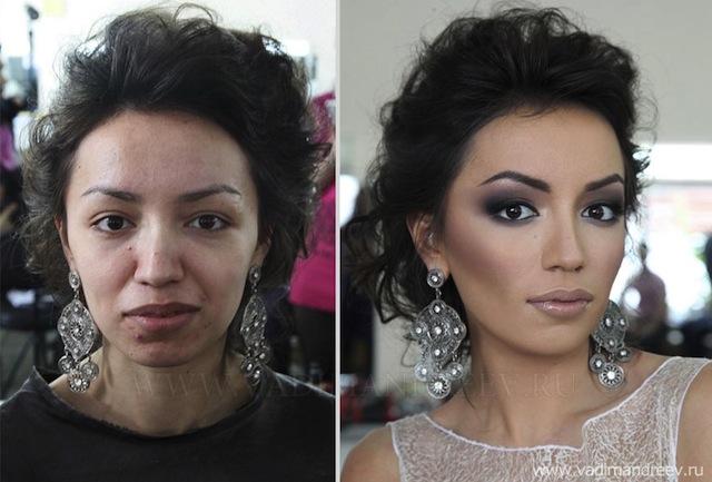 antes e depois da maquiagem 11