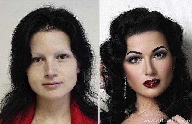 antes e depois da maquiagem 12