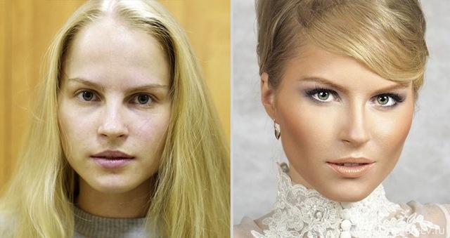 antes e depois da maquiagem 13