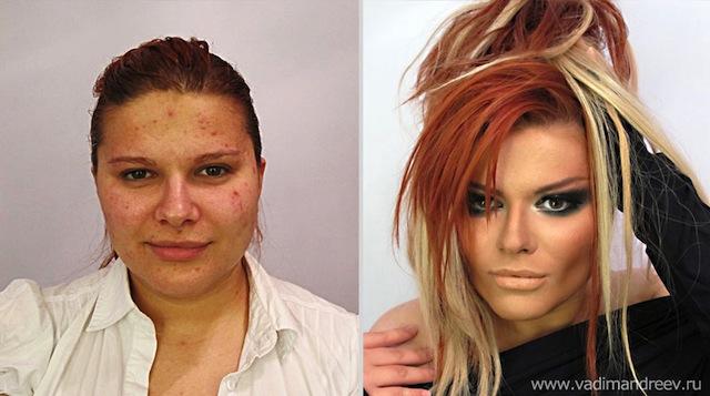 antes e depois da maquiagem 14