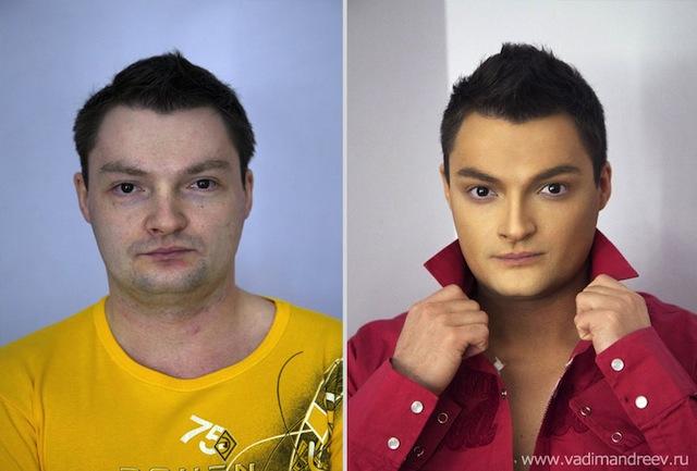 antes e depois da maquiagem 16