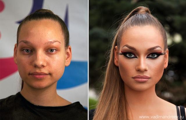 antes e depois da maquiagem 17