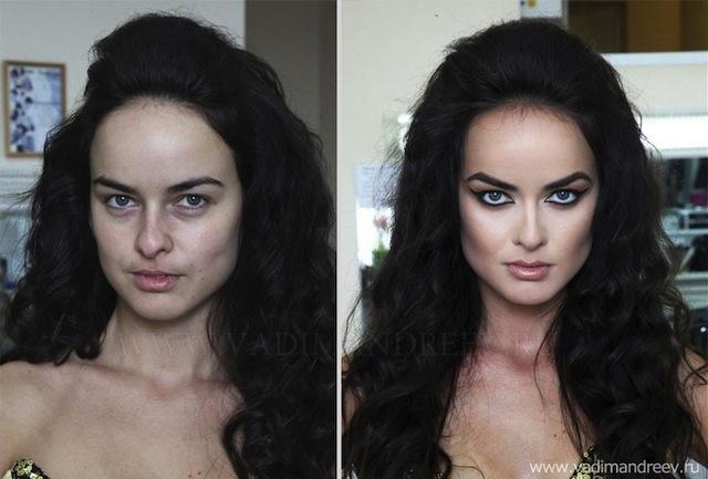 antes e depois da maquiagem 2