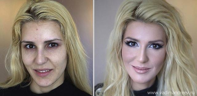 antes e depois da maquiagem 4