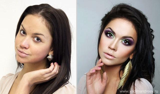 antes e depois da maquiagem 6