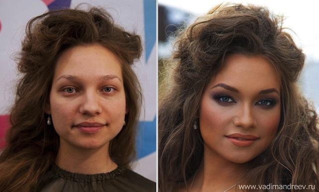 antes e depois da maquiagem 7