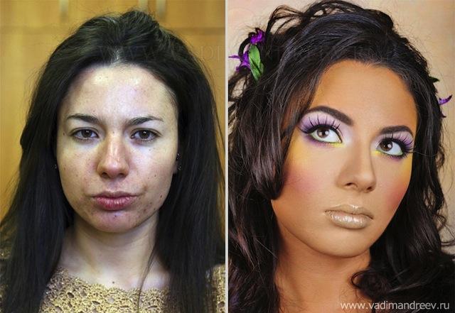 antes e depois da maquiagem 8