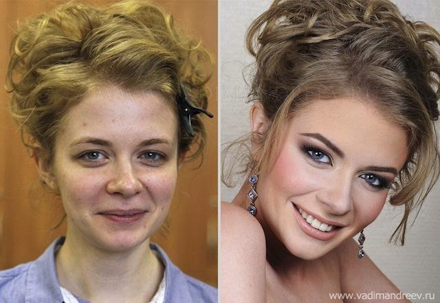 antes e depois da maquiagem 9
