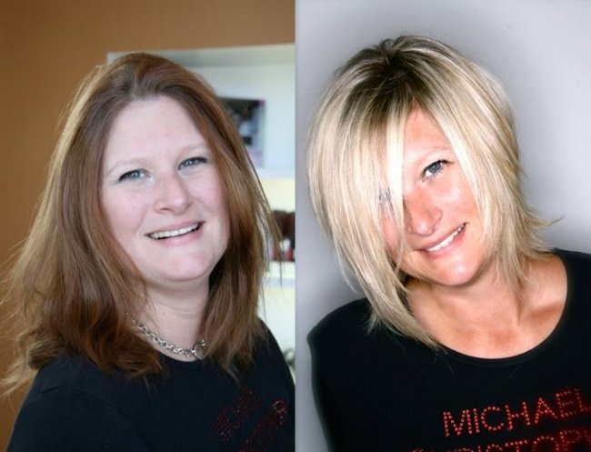 antes e depois de mudar de visual 1