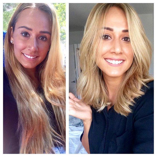 antes e depois de mudar de visual 10
