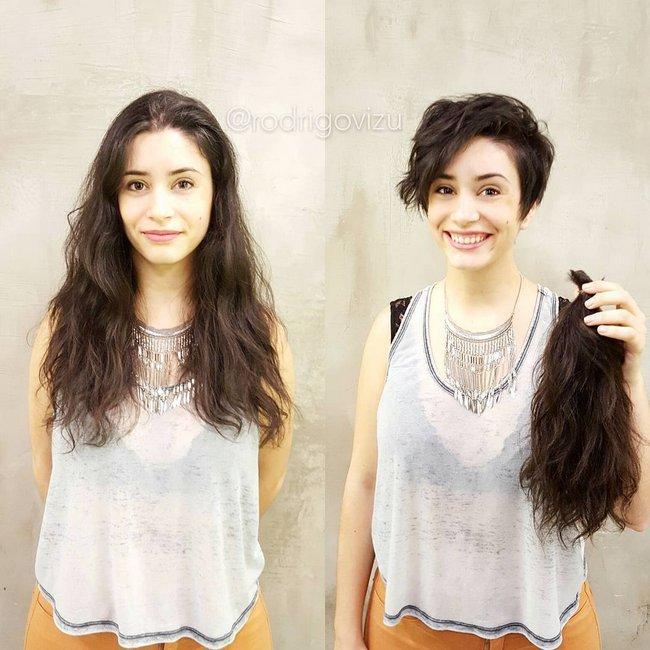 antes e depois de mudar de visual 12