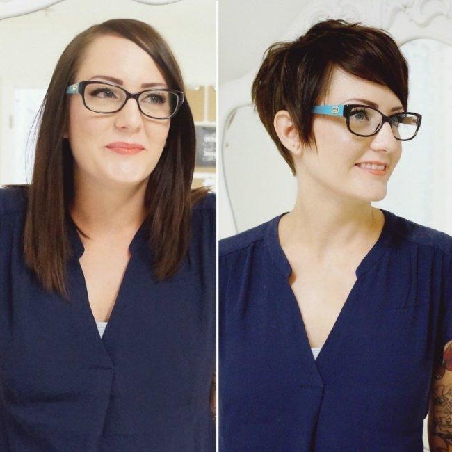 antes e depois de mudar de visual 7