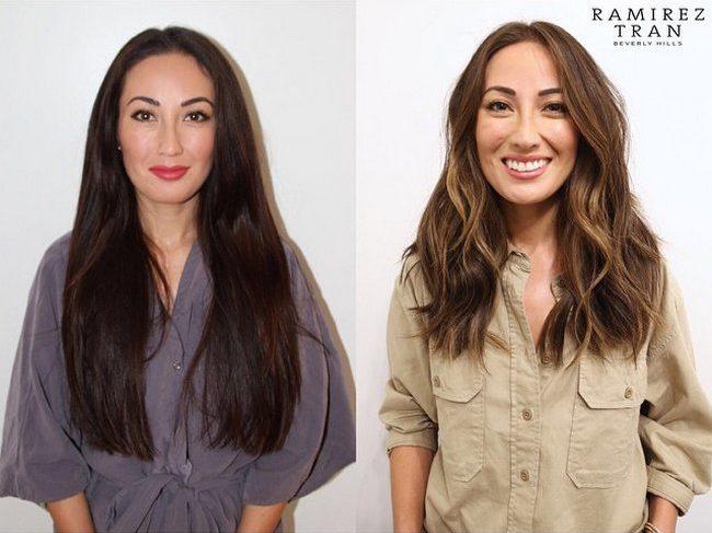 antes e depois de mudar de visual 9