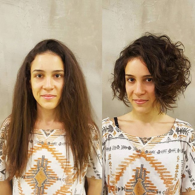 antes e depois de mudar de visual