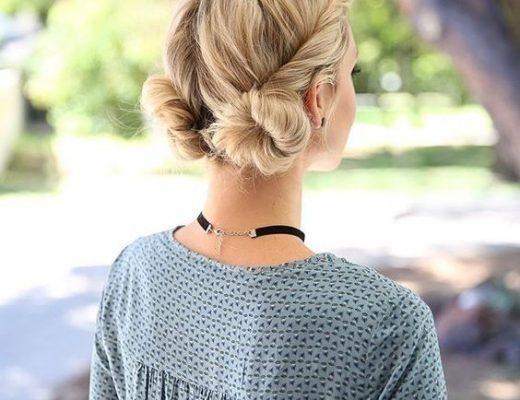 coque macrron penteado de cabelo