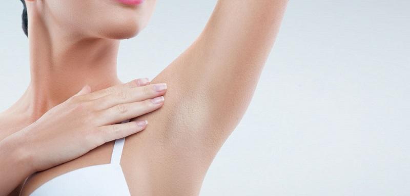 depilação axilas
