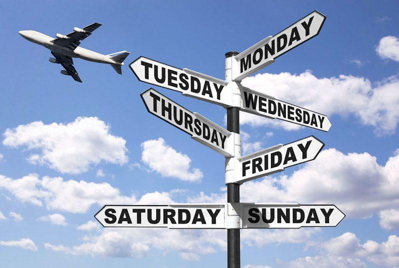 dias de voar e viajar