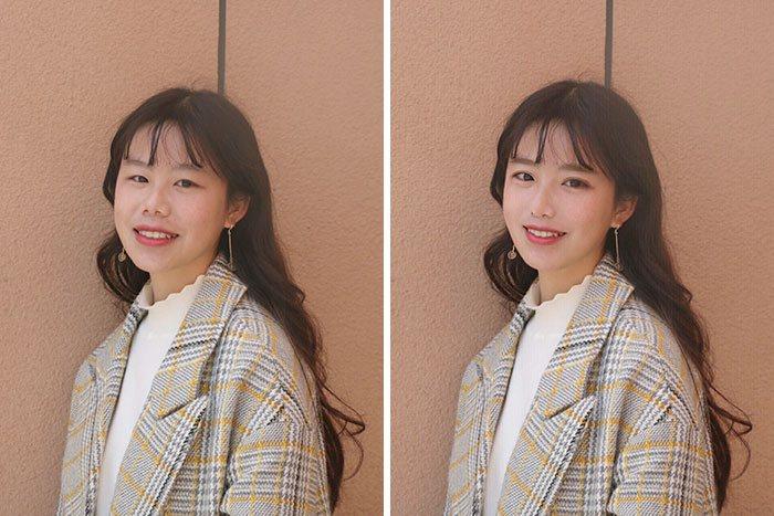 foto redes sociais antes e depois de edição 10