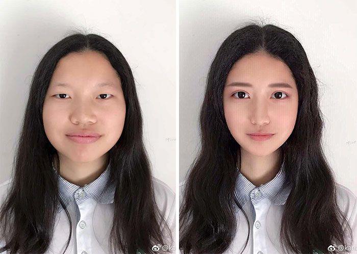 foto redes sociais antes e depois de edição 14
