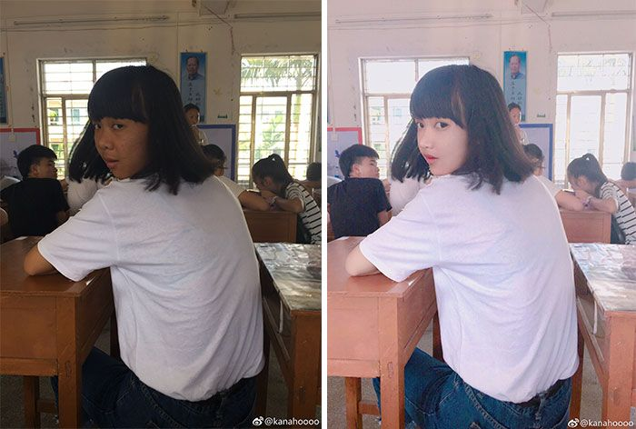 foto redes sociais antes e depois de edição 16