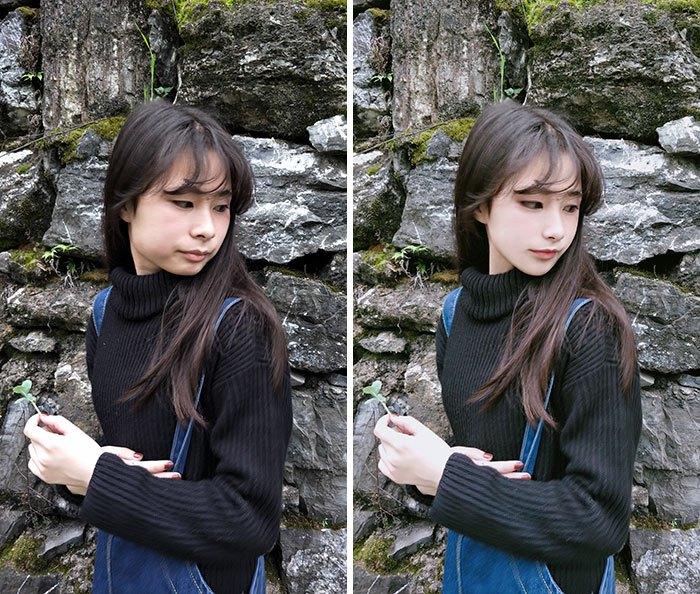 foto redes sociais antes e depois de edição 2