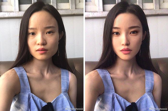 foto redes sociais antes e depois de edição 4