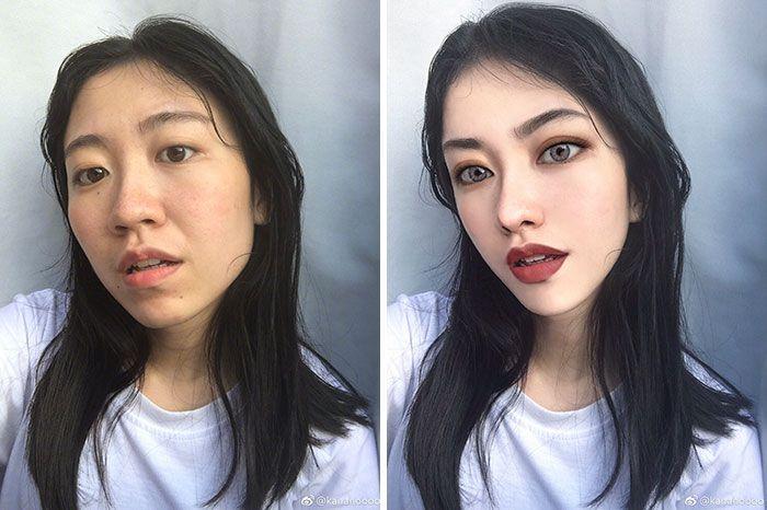 foto redes sociais antes e depois de edição 7