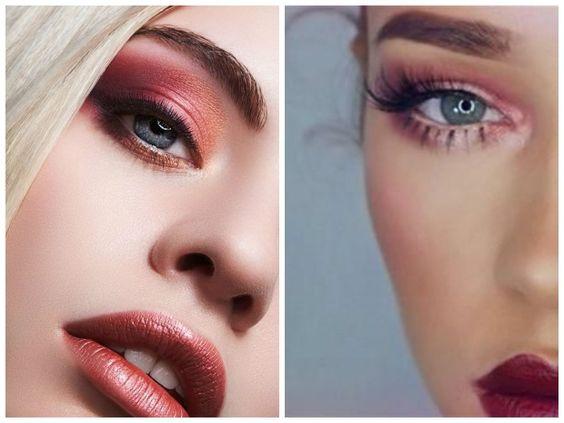 maquiagem com sombra vermelha ifotos