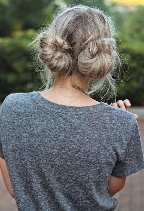 penteado dois coques