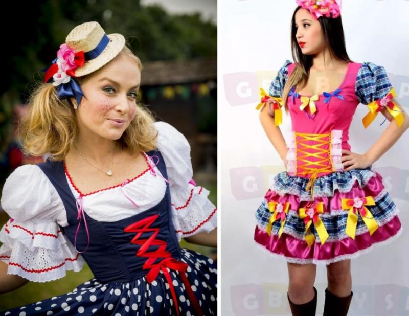 Fotos de vestidos caipiras modernos