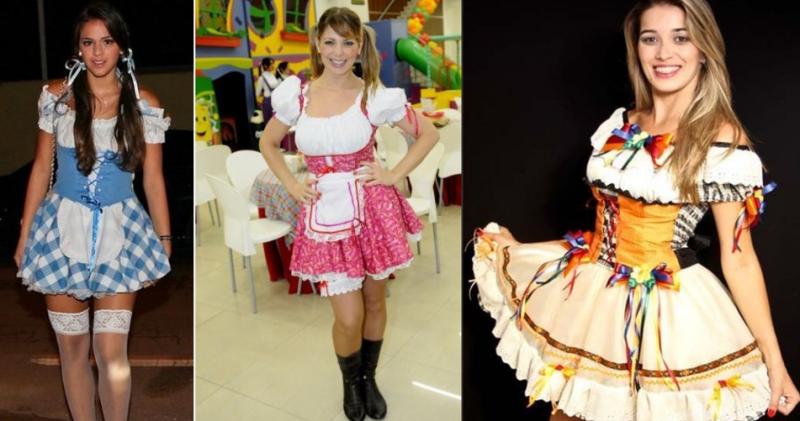 vestido caipirapara festa junina