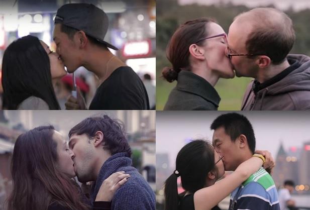 video mostra como os casais se beijam em 11 países