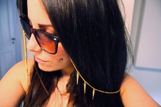 corrente para óculos com spikes